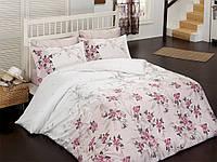 Постельное белье 200х220, сатин Class  Bahar teksil, Moley v1 Pembe нежно-розовый.