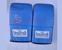 Снарядные перчатки SPRINTER из натуральной кожи р.L синие