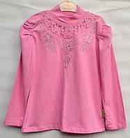 Нарядная кофточка для девочки 9-12 лет розовая модель - 104107