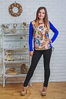 Кофта женская синяя, фото 1