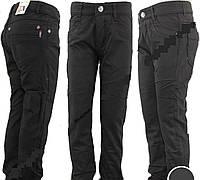 Черные джинсы на флисе 116