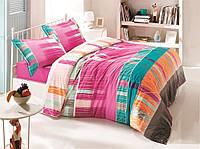 Постельное бельё двуспальное ранфорс 200х220 Gokay Armoni яркий, разноцветный.