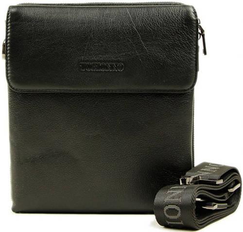 Мужская сумка на плечо из натуральная кожа Tofionno 5141-4 черная