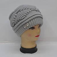 Модная и теплая женская вязанная шапка - Код 105-30