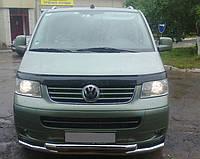 Передняя защита ( двойная дуга) для VW T5/ multivan (2003-   ), усы, нержавеющая сталь, d-60