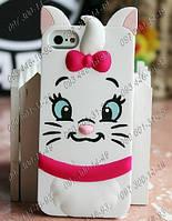 Защитный Силиконовый чехол на Iphone 4/4s 5/5s Китти 3D Женственная панель для телефона Оригинальные чехлы