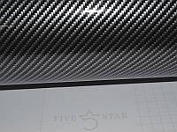 Карбоновая пленка серебристо-черный под лаком 100х127 см.