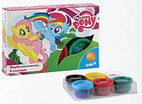 Краски пальчиковые Kite Little Pony 6 цветов 35 мл в картонной упаковке (LP15-064K)