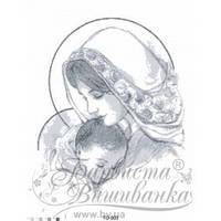 ТО-003 Марія з дитям сіра. Схема для вишивки бісером