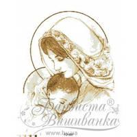 ТО-007 Марія з дитям коричнева. Схема для вишивки бісером