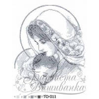 ТО-011 Марія з дитям сіра. Схема для вишивки бісером