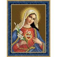 ТО-078 Ікона Відкрите Серце Марії. Схема для вишивки бісером