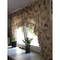 Элитные шторы для кухни Прованс арка