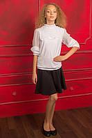 Блуза нарядная белая для девочки подростка