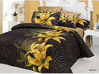 Полуторное постельное белье  Arya сатин 70х70  Renata