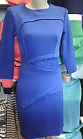 Нарядное женское платье с гипюром