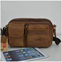 Мужская сумка-мессенджер JEEP. Высокое качество. Кожаная сумка. Доступная цена. Интернет магазин. Код: КЕ171