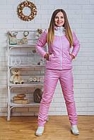Костюм спортивный женский зимний розовый, фото 1