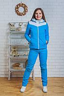 Костюм спортивный женский зимний голубой