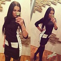 Женское стильное платье с карманами