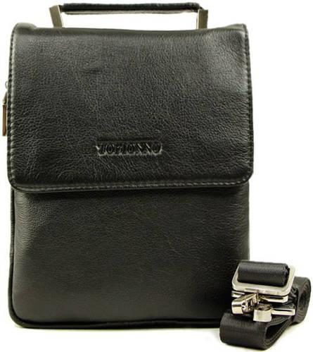 Стильная и элегантная мужская сумка на плечо из натуральная кожа Tofionno 8902-5 черная