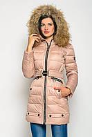 Женская зимняя куртка-пуховик с мехом