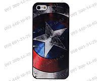 """Пластиковый чехол на iPhone 5/5s Чехол """"Щит Капитан Америки"""" Знаменитого Капитана Америки Задняя панель Apple"""
