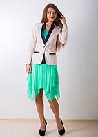 Пиджак женский с контрастным воротником