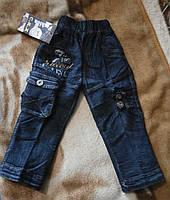Теплые джинсы для мальчика на флисе