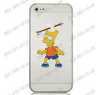 """Пластиковый чехол панель """"Барт Симпсон"""" для Iphone 4/4S, 5/5S, 5С Прикольные панели для айфона Симпсоны"""
