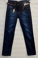 Джинсы для девочки 8-12 лет с вышивкой на карманах