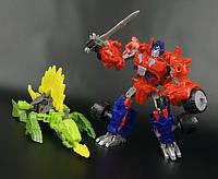 Трансформеры Construct Bots - Optimus Prime + Gnow dino - Hasbro