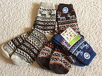 Носочки зимние для мальчиков и девочек со сказочным орнаментом в виде оленей