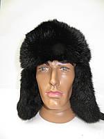 Мужская меховая шапка ушанка