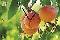 """Часы настенные стеклянные """"Абрикосовый урожай"""""""