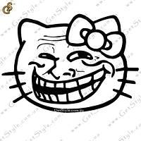"Наклейка ""Trollface Kitty"""