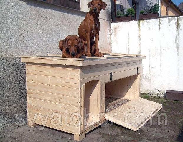 Фото будки для собак своими руками