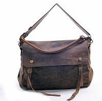 Вместительная кожаная сумка. Сумка для документов, ноутбука. Высокое качество. Доступная цена. Код: КЕ175