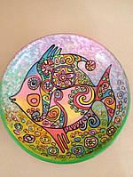 """Тарілка ручної роботи декоративна """"Чарівна рибка"""" авторська робота"""