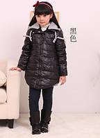 Детская куртка серый капюшон