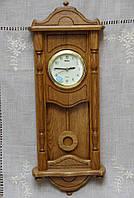 Годинник дерев'яний настінний горіх ручної роботи