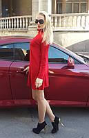 Женское платье из ангоры в красном и черном цвете Размеры S. M AA 409
