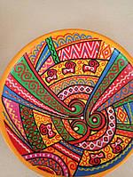 """Декоративна глиняна тарілка """"Український орнамент"""" авторська робота"""