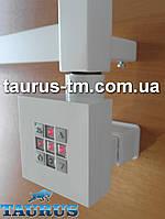 Белый квадратный ТЭН: регулятор + таймер. Маскировка провода. Полотенцесушек электрических в ванной от TAURUS