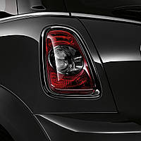 Mini Cooper R56 R57 R58 R59 чёрные обложки накладки на задние фонари стопы чёрные