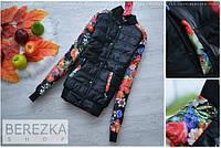 """Женская модная курточка """"Цветы"""" (2 цвета)"""