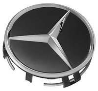 Mercedes центральный колпачок в диск чёрный новый оригинал
