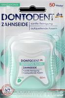 Зубная нить для чувствительных зубов и десен Dontodent Sensitive Floss Zahnseide 50 meter