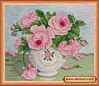 Наборы для вышивки крестом Розовые цветы АН-014