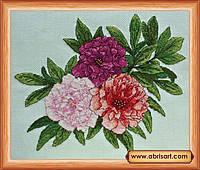 Наборы для вышивания крестом Трио пионов АН-015